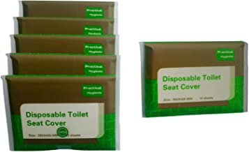 Toilet Seat Covers Disposable Travel portable 5 Packs (50 – Count) + 1 Free Pack..