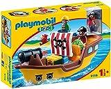 Playmobil Ship 1.2.3 9118 Barco Pirata, A partir de 1,5 años,...
