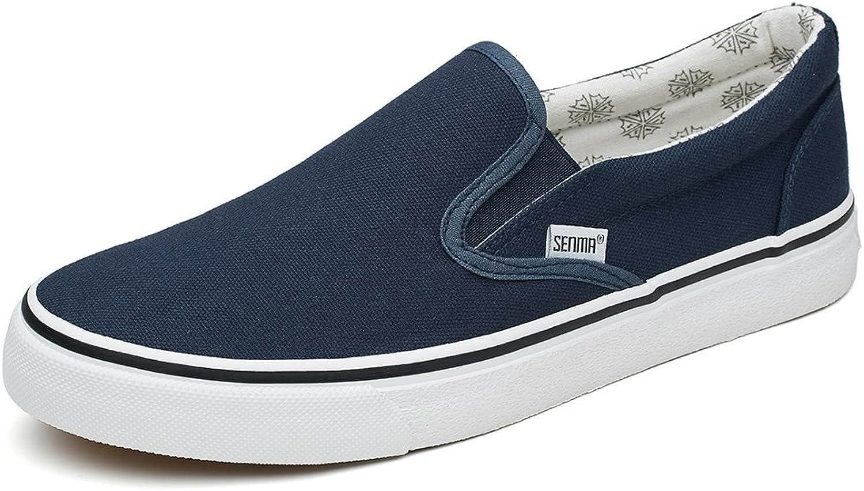 Dycarfell Senma Men's Canvas Help Low Loafers Fashion Sneakers bluee