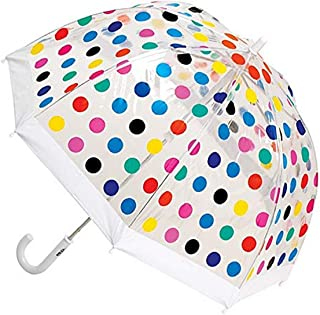 Clifton Umbrellas Kids' Birdcage Multi Spots Umbrella, PVC, Kid Friendly, Rainbow