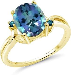Gemstar Jewellery 18K Yellow Gold Plated Round /& Princess Shape Green Emerald Joker Harley Quinn Ring
