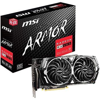 MSI Gaming Radeon Rx 580 256-bit 8GB GDRR5 HDMI/DP DirectX 12 VR Ready Dual Fan Crossfire Freesync Graphics Card (RX 580 Armor X)