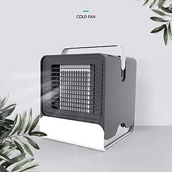 Alfheim Mini refrigerador de Aire, Purificador de humidificador, Aire Acondicionado portátil con Iones Negativos con luz Nocturna USB, Ventilador evaporativo móvil Personal Space para Oficina Hogar: Amazon.es: Hogar
