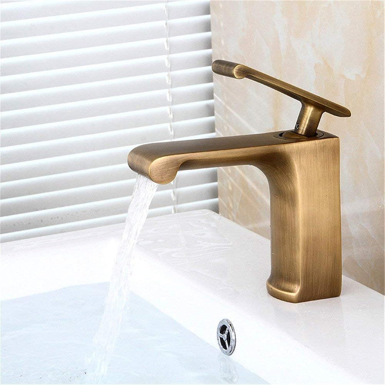Oudan Antique Double Falls High Sanitary Ware Entire Copper Antique Faucet (color   -, Size   -)
