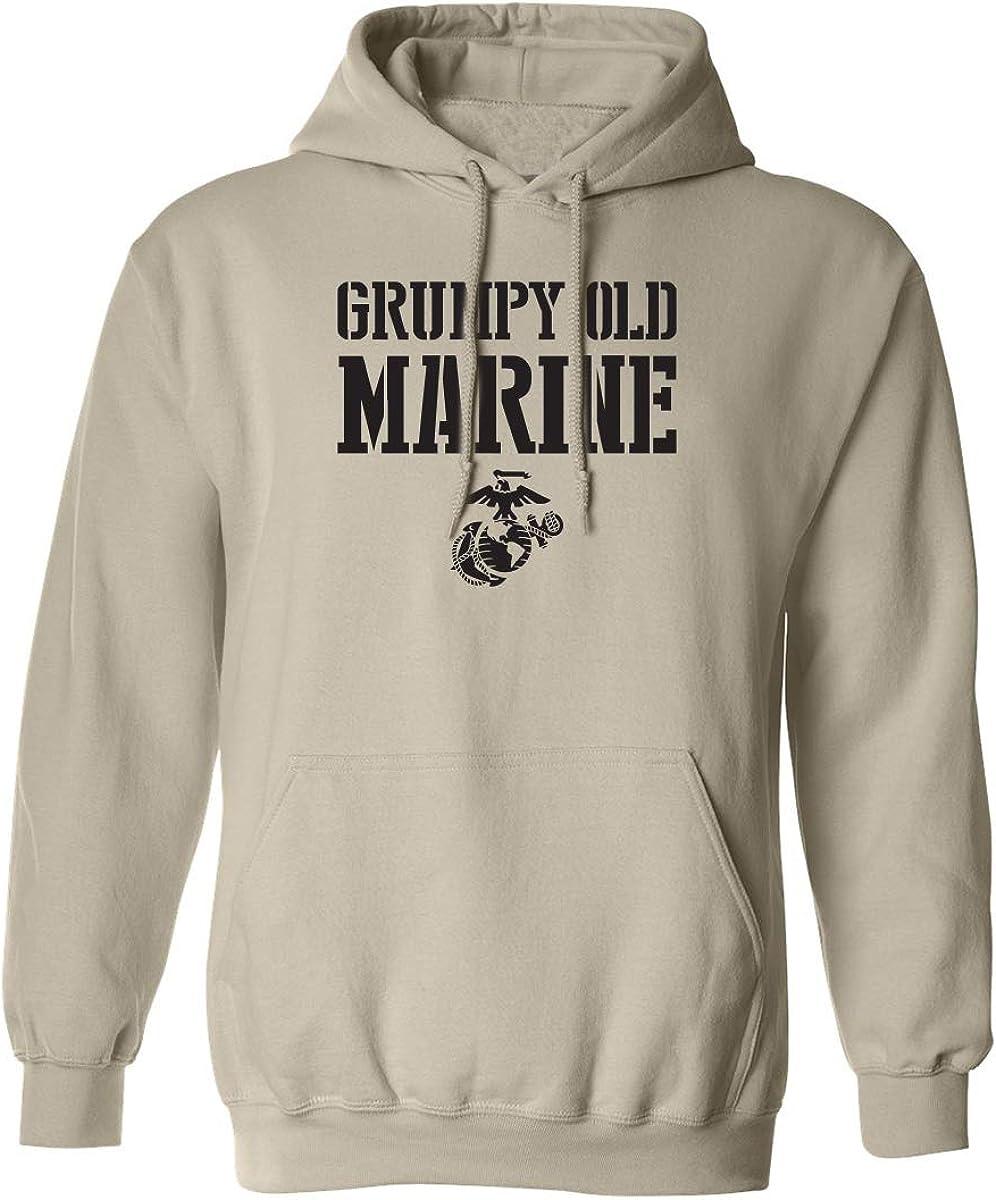 Grumpy Old Marine Adult Hooded Sweatshirt