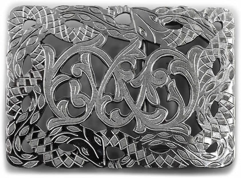 M-Royal Max 76% OFF Saddles Hebilla Charra Buckle Boston Mall Charro Belt Snake