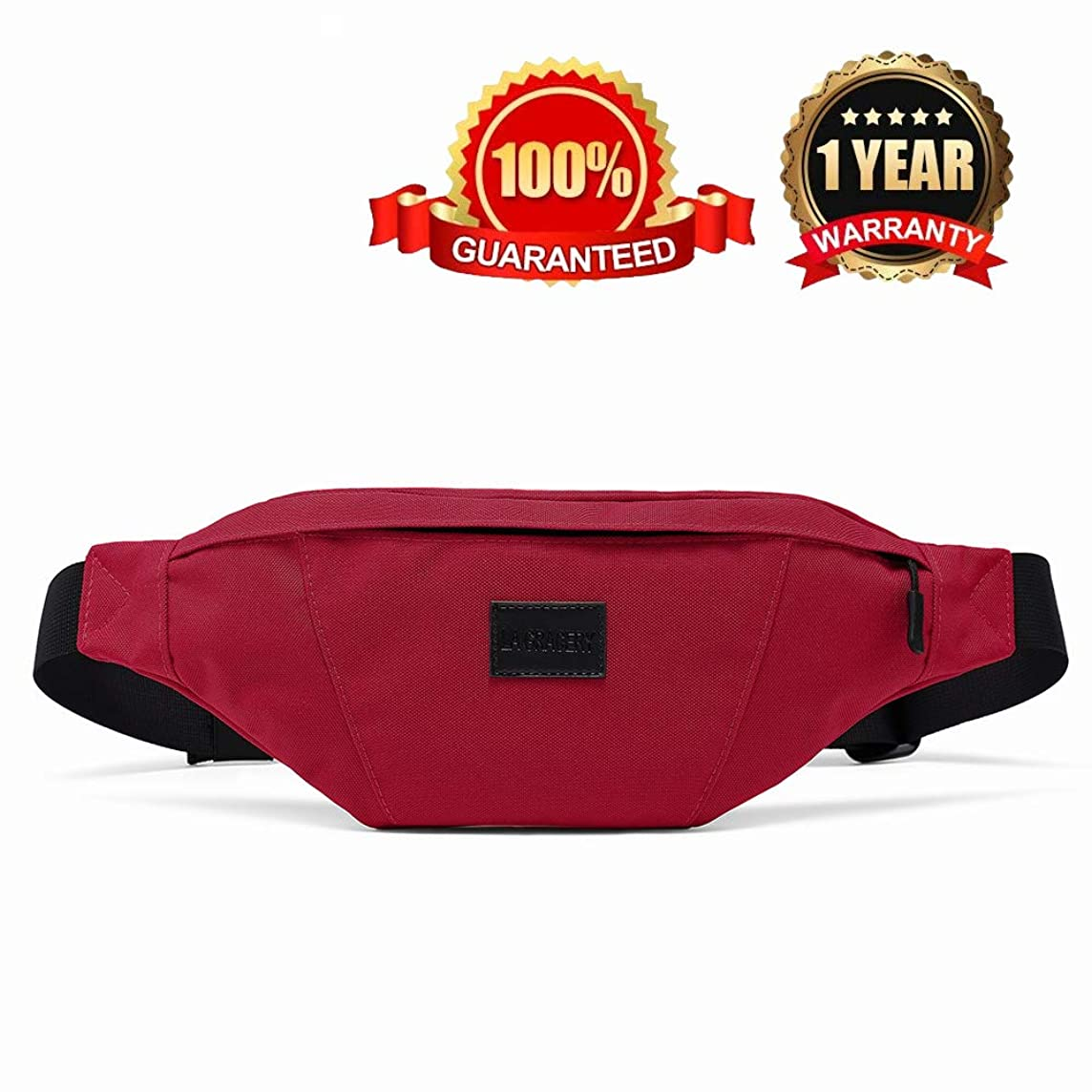 La Gracery Waist Bag Pack, Water Resistant Sport Fanny Pack for Men & Women Outdoors Casual Workout Cycling Hiking