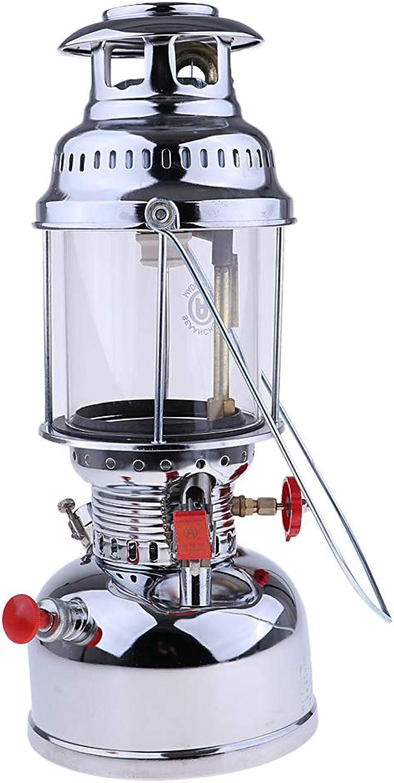 Baoblaze Portable Outdoor Gas Lantern Camping Hiking Light Safety Kepinkne Oil Lamp