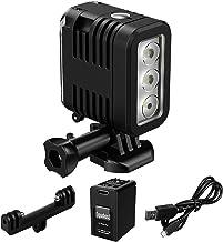 Underwater Lights Dive Light 147ft(45m), HONGDAK Diving Light High Power Dimmable Waterproof LED Video Fill Night Light fo...