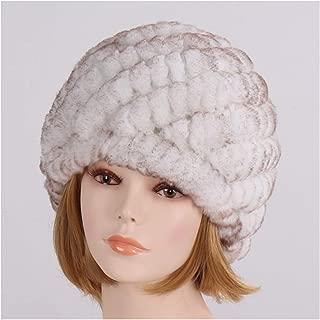 Lady Natural Fur Hat Girl Fur Cap Women Warm Soft Knitted Fur Skullies Beanies