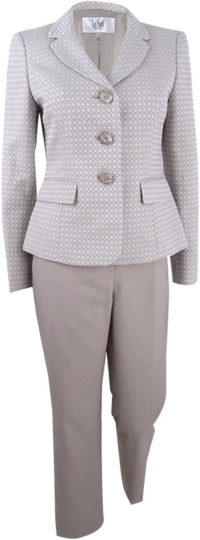 Le Suit Womens Contrast Professional ThreeButton Suit