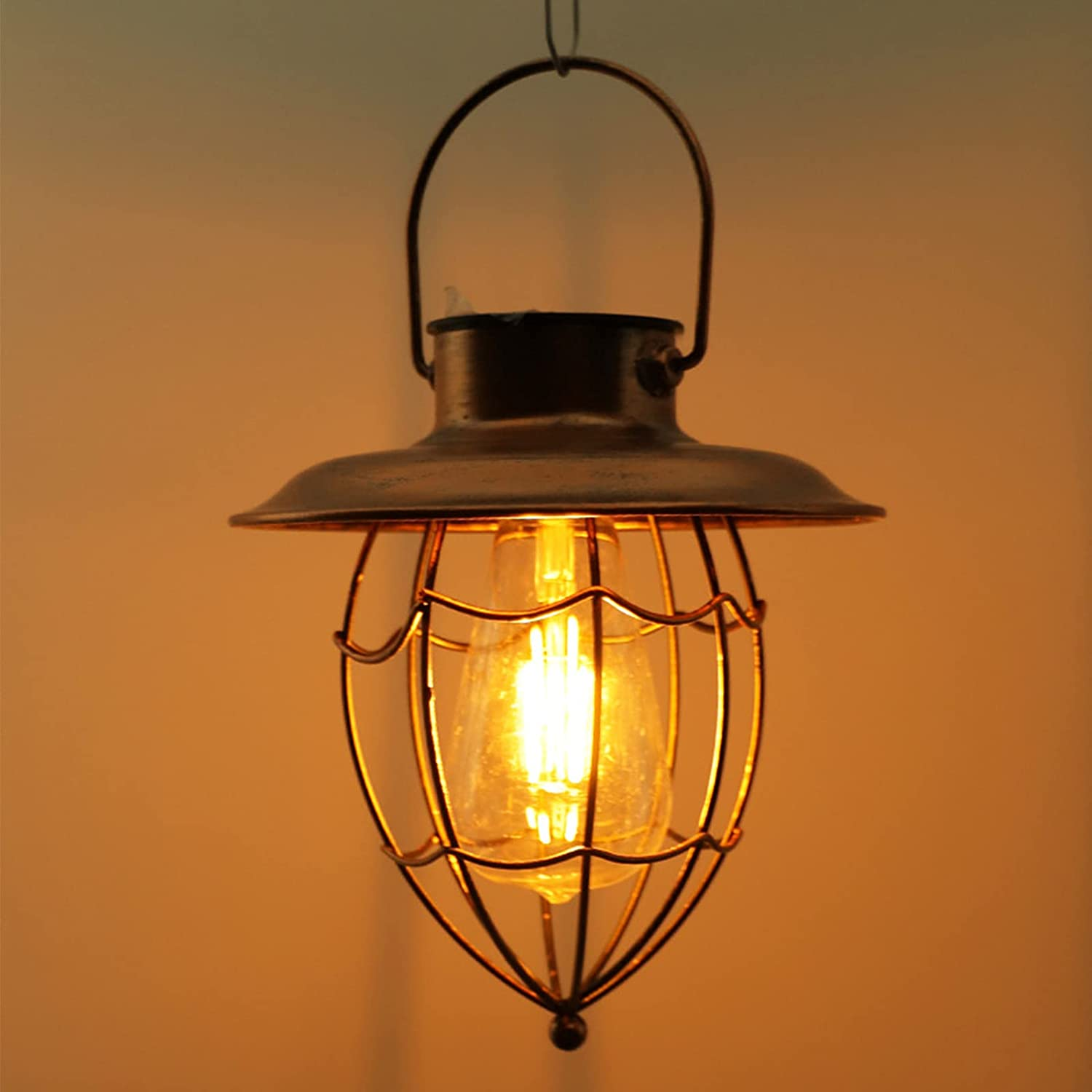 DFFng Vintage Copper Solar Lantern Opening large release sale Limited Special Price L Light Hanging Outdoor