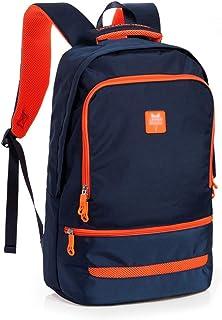 ZNBJBB Lightweight Backpack Female Men's Trend College Wind Campus Backpack Junior High School Student Bag (Color : Royal ...