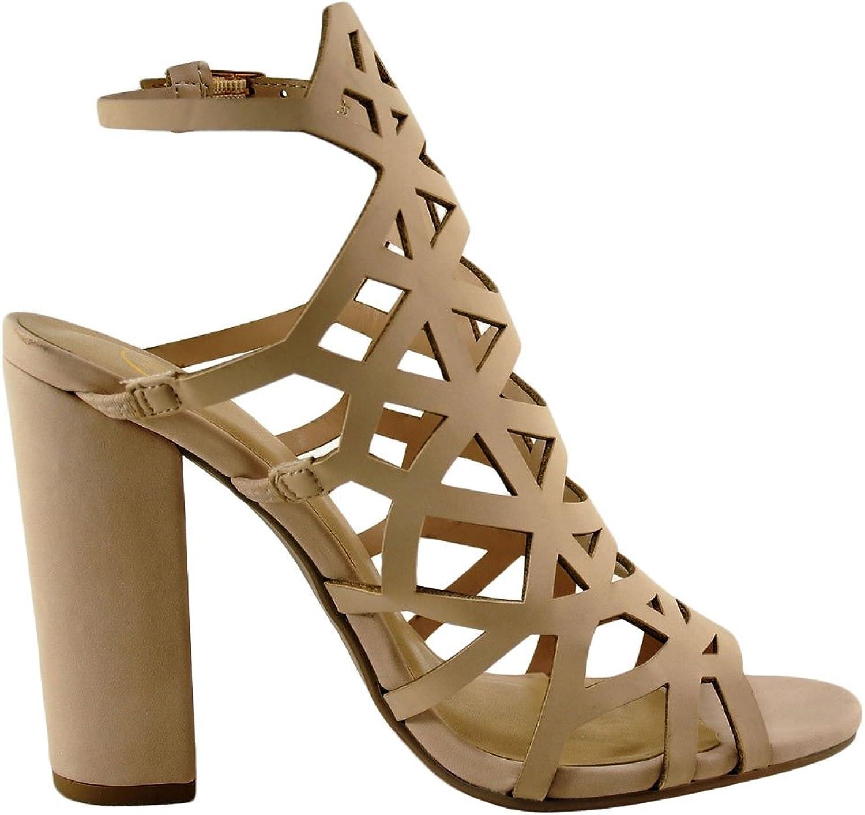 Delicious Ghalys S Women's Open Toe Geo Caged Heel