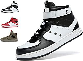 VITIKE Mens High Top Sneakers Casual Lace Up Skateboard Shoes(Size:7-12M US)