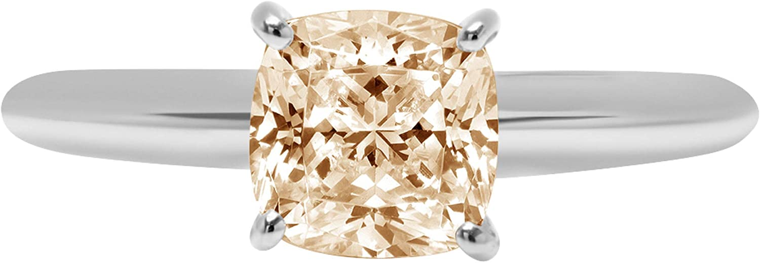 1.0 ct Brilliant Cushion Max 54% We OFFer at cheap prices OFF Cut Designer Genuine Solitaire Natural