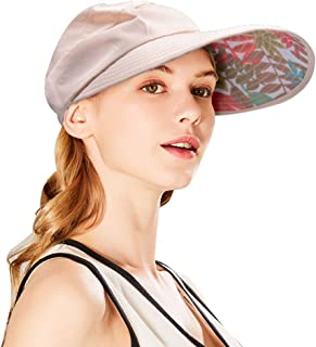SPRING SEAON Sun Visor Hats Wide Brim Floppy Mesh Outdoor Summer UV Protection Packable Beach Cap with Detachable Chin Str...