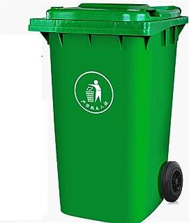 DEALBUHK Les ordures en plein air peuvent grossir la corbeille de classification commerciale peut 240 litres Seau à remorq...