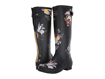 Joules Welly Print (Black Floral 1) Women