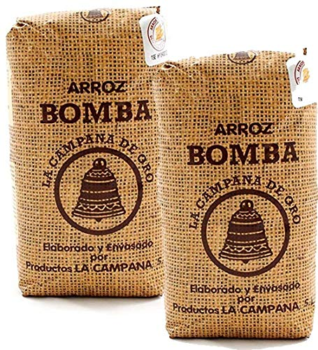 2 Pack - Bomba Paella Rice. Imported from Spain 1 kg. (2.2 lb)