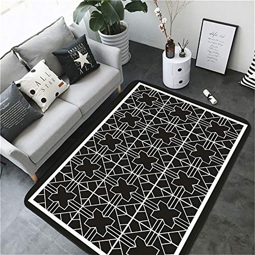 MMHJS European-Style Simple Geometric Carpet Living Room Bedroom Waterproof Non-Slip Printing Floor Mats Soft And Full Shop Hotel Banquet Party Carpet