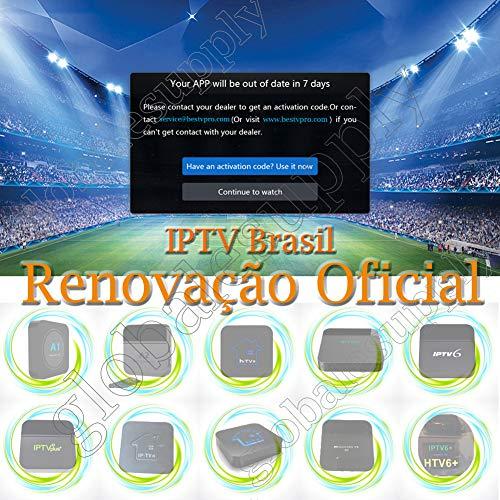 16-Digit Renew Code for HTV 1 2 3 5 / A2 / A1 / IPTV 5 6 / IPTV5+Plus IPTV Brazil/Brazilian Renewal/Portuguese TV Box Subscription Service Valid for 400 Days