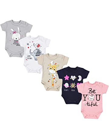 MAMIMAKA Baby Body Pantaloni Pantaloni Bambino Vestiti Del Bambino Manica Corta Body Onesies per Neonati e Ragazze