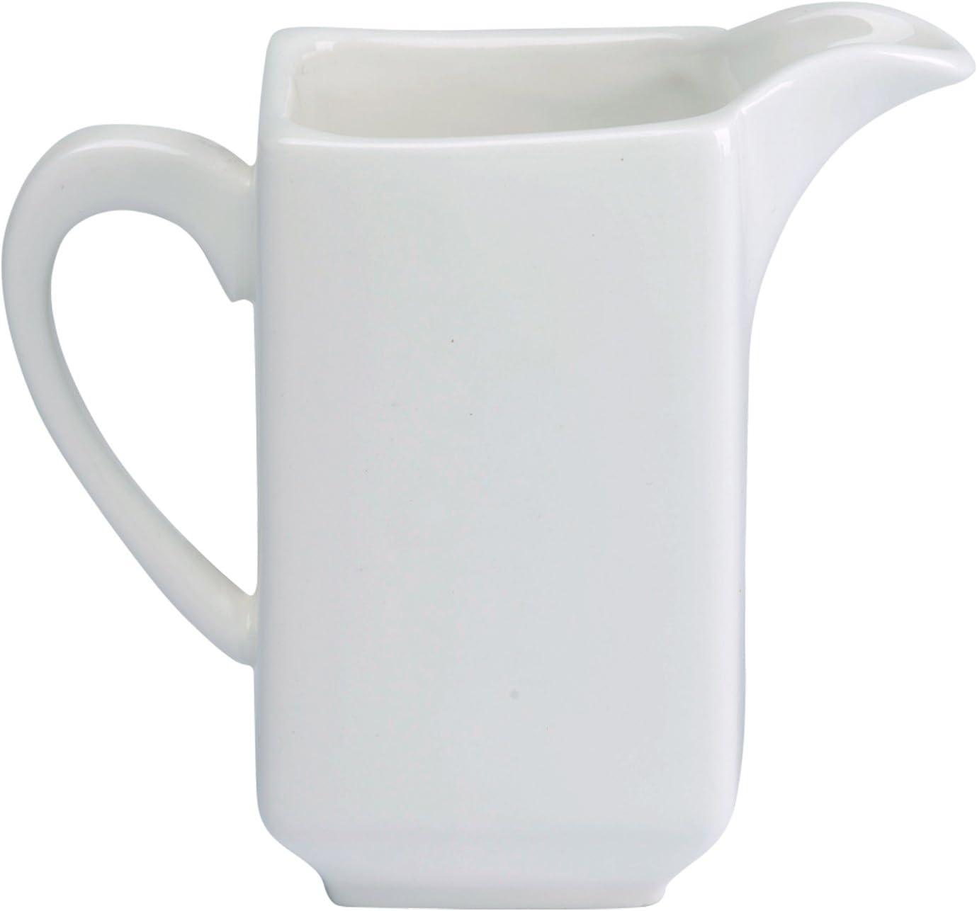 Dajar Porto Leche Jarra 210ml, Porcelana, Blanco, 11x 5,7x 9,8cm