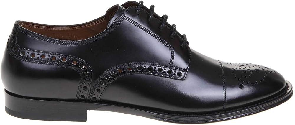 dolce & gabbana luxury fashion scarpe stringate per uomo in vera pelle a10553ax1618s479