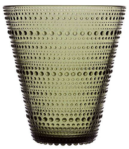 Iittala Kastehelmi decoratieve vaas, glas, mosgroen, 15,4 cm