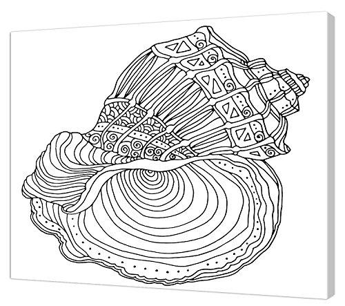 Pintcolor 7817.0 châssis avec Toile imprimée à colorier, Bois de Sapin, Blanc/Noir, 40 x 50 x 3,5 cm