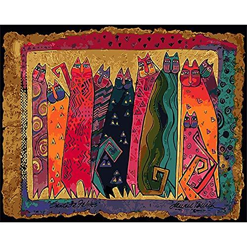 Pintura al óleo digital de bricolaje, dibujo decorativo para principiantes, kits de lienzo preimpresos, regalos para niños y adultos, sin marco 40x50cm