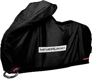 NEVERLAND バイクカバー 車体カバー 厚手 300Dオックス生地 耐熱 溶けない 撥水 防雪 丈夫 UVカット 風飛び防止 蒸れない 前後ロック穴 盗難防止 収納袋付き