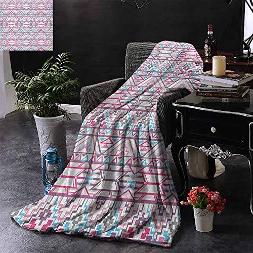ZSUO Kinderdeken Ikat Stijl Abstract Geometrische Native American Aztec Geïnspireerd Artwork Zachte en Comfortabele Slaapbank Bed