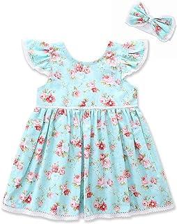 فستان بدون أكمام مطبوع عليه حيوانات للبنات من القطن فستان الشمس للأطفال للاستخدام اليومي