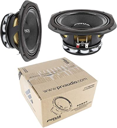$199 Get 2X 6.5 PRV Audio 6MR500-NDY-4 Neodymium Mid Range 4 Ohm 1000W Car Audio Speaker