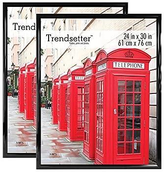 MCS Black 24 x 30 Inch Trendsetter Poster Frame 2-Pack 24 x 30