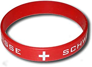 supportershop Zwitserland armband silicone voetbal, rood, FR: eenheidsmaat (maat fabrikant: maat One sizeque)