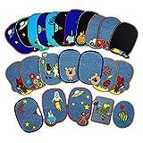 Sweetop 23 parches bordados para coser o planchar, accesorios de varios tamaños para decoración, varios estilos, parches de flores, plantas, animales, accesorio de bricolaje