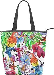 MALPLENA Schultertasche für Damen, Kolibri und Papageien