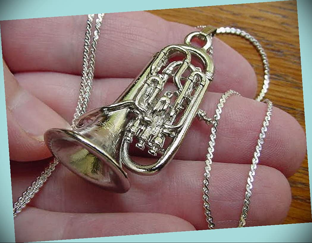 Euphonium Silver Nickel Special Campaign Pendant Chunky Mail order cheap Neck Statement Rhinestone
