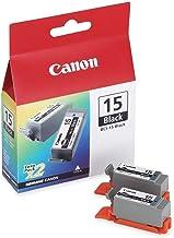 Canon BCI-15 Black Ink Cartridge - Black - Inkjet - 2 / Pack - Retail