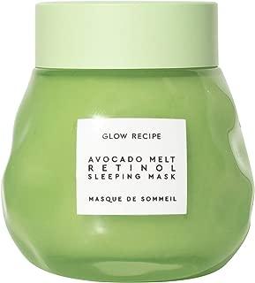 Glow Recipe Avocado Melt Retinol Face Sleeping Mask - Plumping + Smoothing Face Mask with Retinol, Matcha + PHA, Free of Silicones + Alcohol (70ml / 2.4 fl oz)