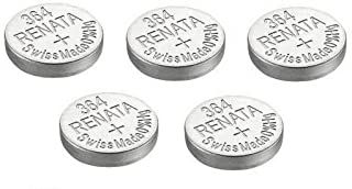 5 x Renata Batteries Silver Oxide Swiss Made 0% Mercurry Long Life (5 x 364 or SR621SW or AG1)