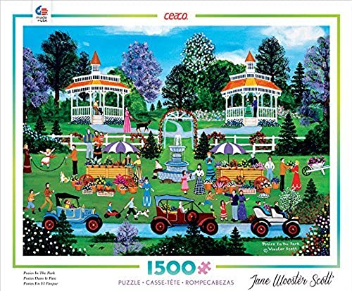 Ceaco Jane Wooster Scott - Posies in The Park Puzzle by Ceaco