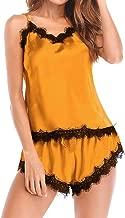 ❤️TIANMI 2019 Spring Deals! Women's Sleepwear Sleeveless Strap Nightwear ,Lace Trim Satin Cami Top Pajama Sets