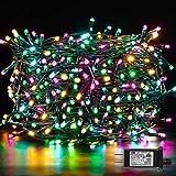 Christmas String Lights, Novtech Christmas Fairy Lights, Xmas Multicolor Lights with Plug 8 Modes, Twinkle Christmas Mini Lights Indoor Outdoor Xmas Tree Garden Party Decor(Multicolor,500Leds)