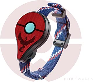 Pokemon GO Plus   Valor Red   Wood Cover Skin for Nintendo Accessory - PREORDER