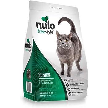 Nulo Senior Dry Cat Food - Grain Free Kibble, All Natural Ingredient Diet for Digestive & Immune Health - Allergy Sensitive Non GMO