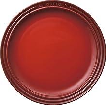 ル・クルーゼ(Le Creuset) 皿 ラウンド・プレート 19 cm チェリーレッド 耐熱 耐冷 電子レンジ オーブン 対応 【日本正規販売品】